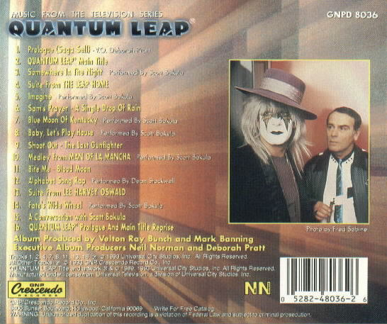 Quantum Leap Soundtrack - Compact Disc - Music from the ...